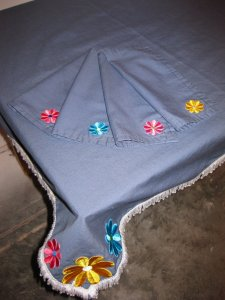 Maggie's Tablecloth & Napkins - detail